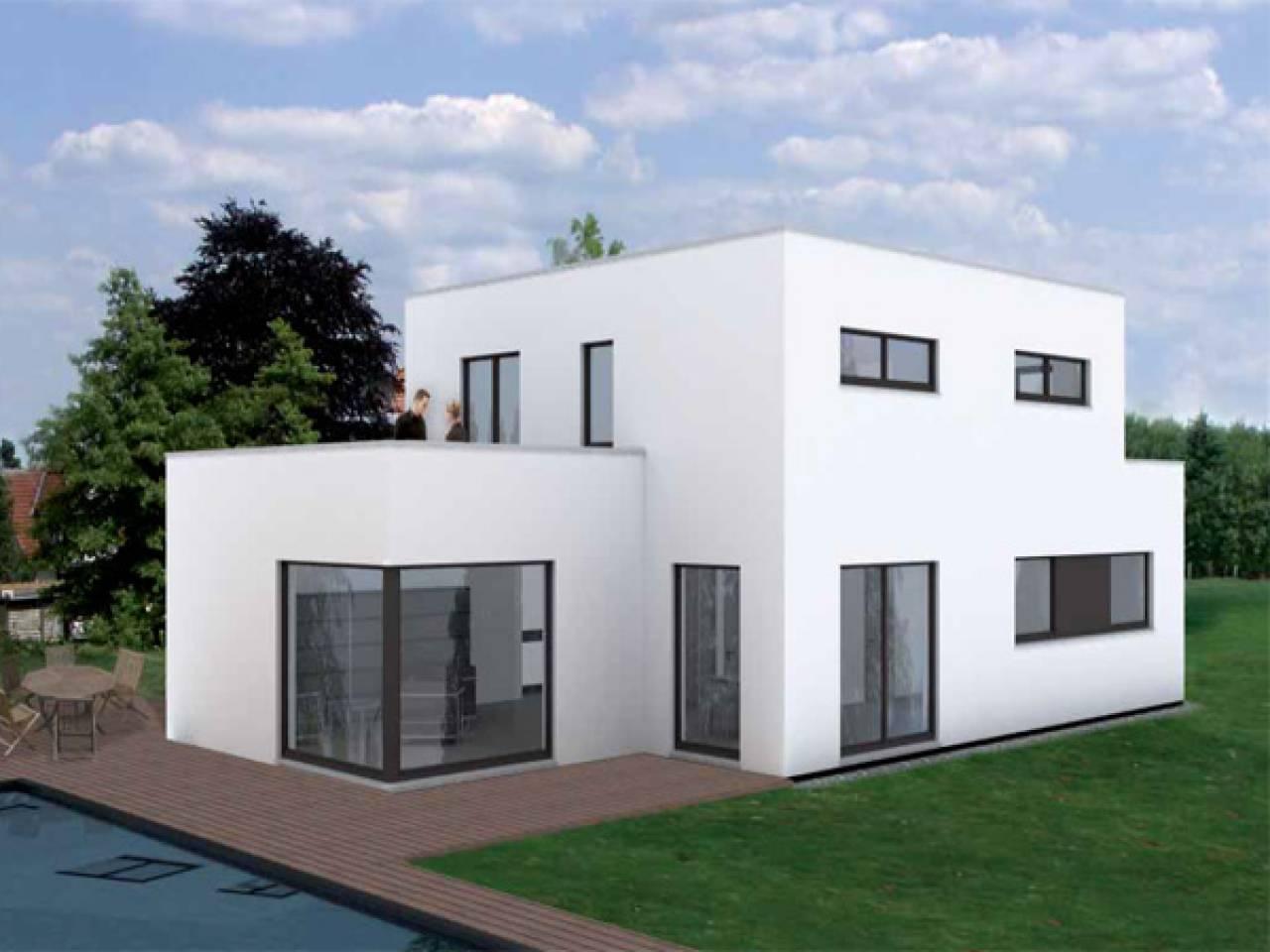 pin hausfassade wei hausfassade modern on pinterest. Black Bedroom Furniture Sets. Home Design Ideas