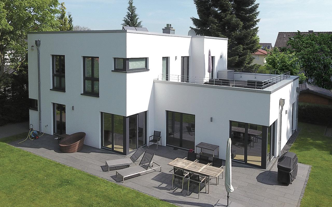 breyer seck bau cubus magnus villa dachterrasse harmonie. Black Bedroom Furniture Sets. Home Design Ideas