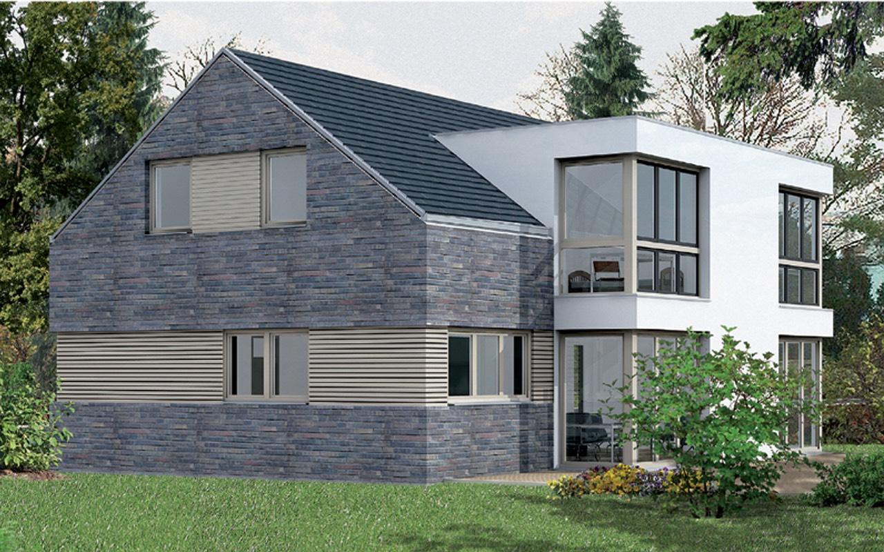breyer seck bau cubus tectus architektur modern satteldachhaus. Black Bedroom Furniture Sets. Home Design Ideas